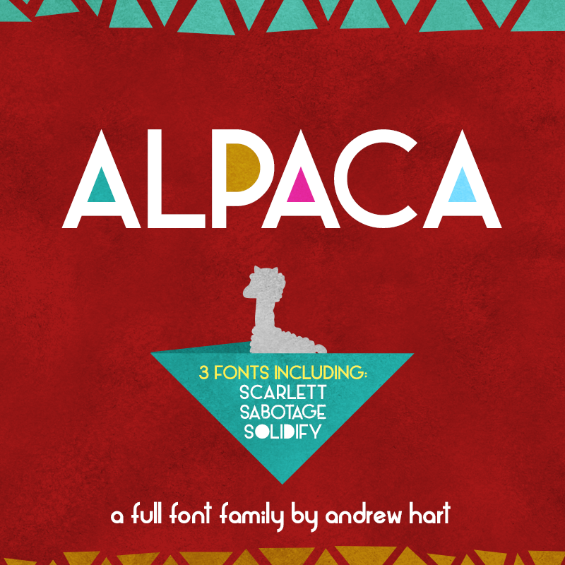 Alpaca Scarlett Full Font Family Commercial License from SickCapital.com