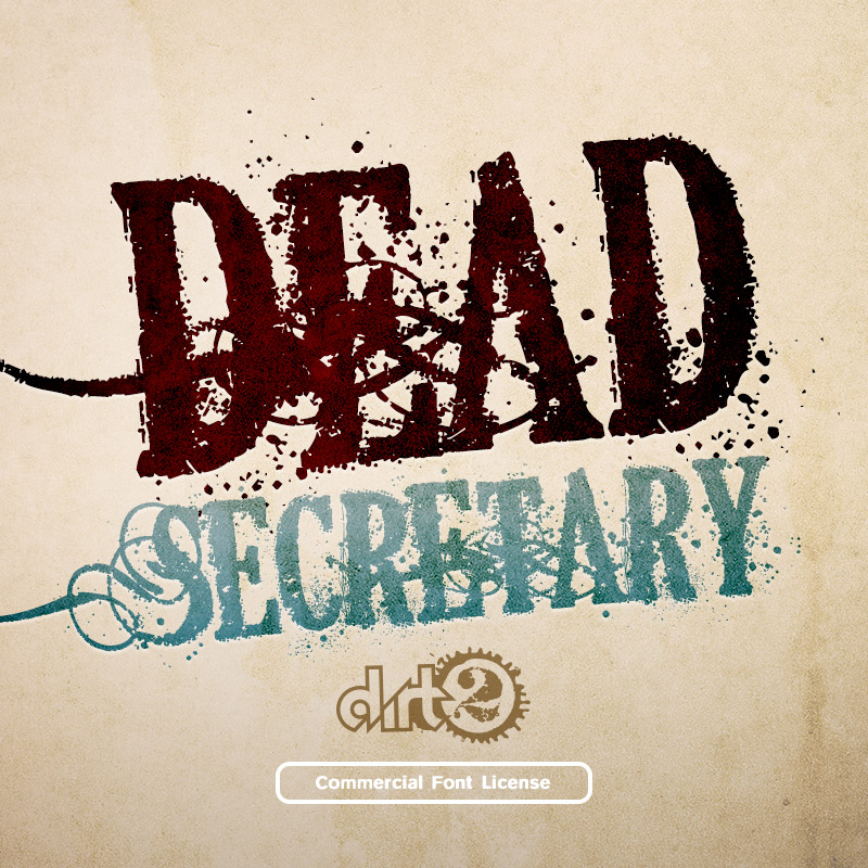 Dead Secretary Font Commercial License from SickCapital.com