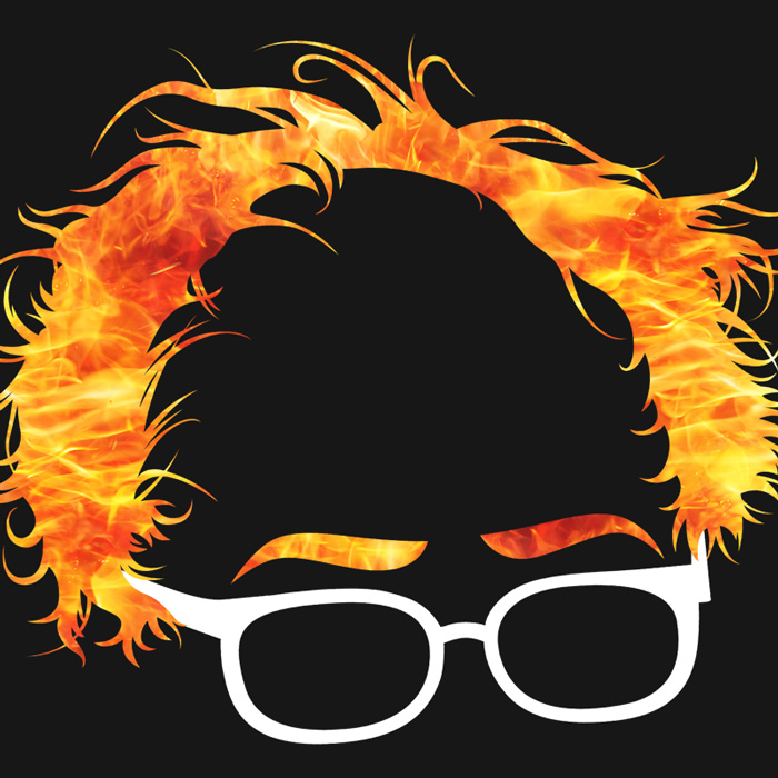 Bernie Sanders Flaming Hair Graphic
