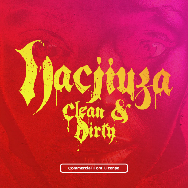 Hacjiuza font and commercial license from SickCapital.com