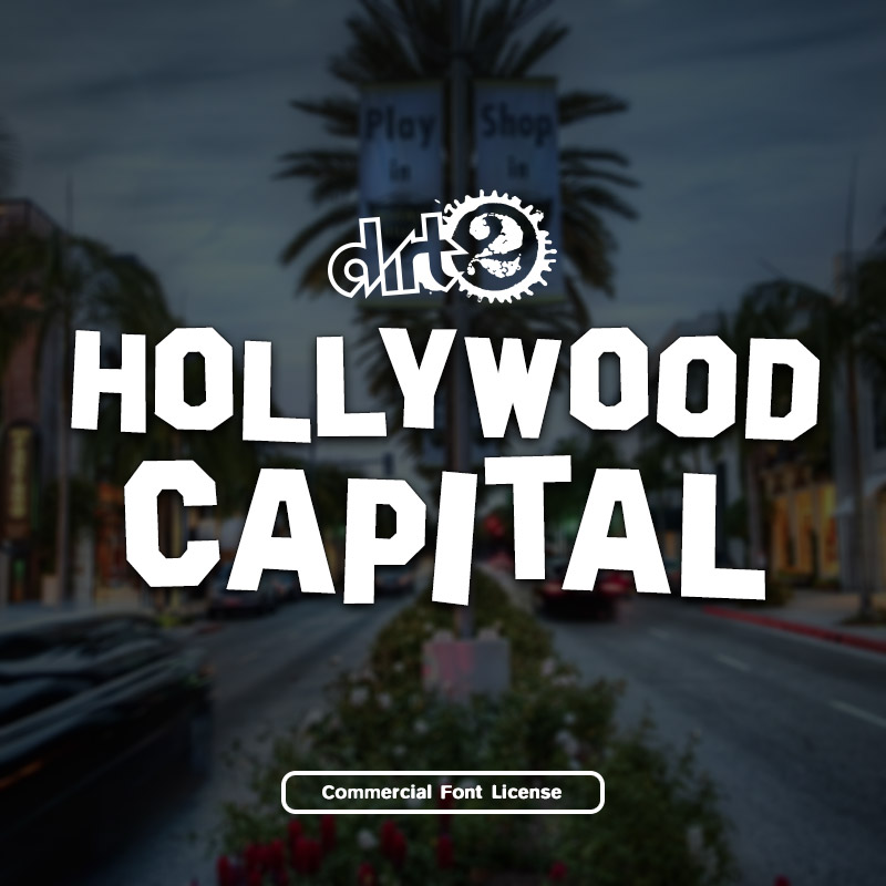 Hollywood Capital Font and commercial license from SickCapital.com