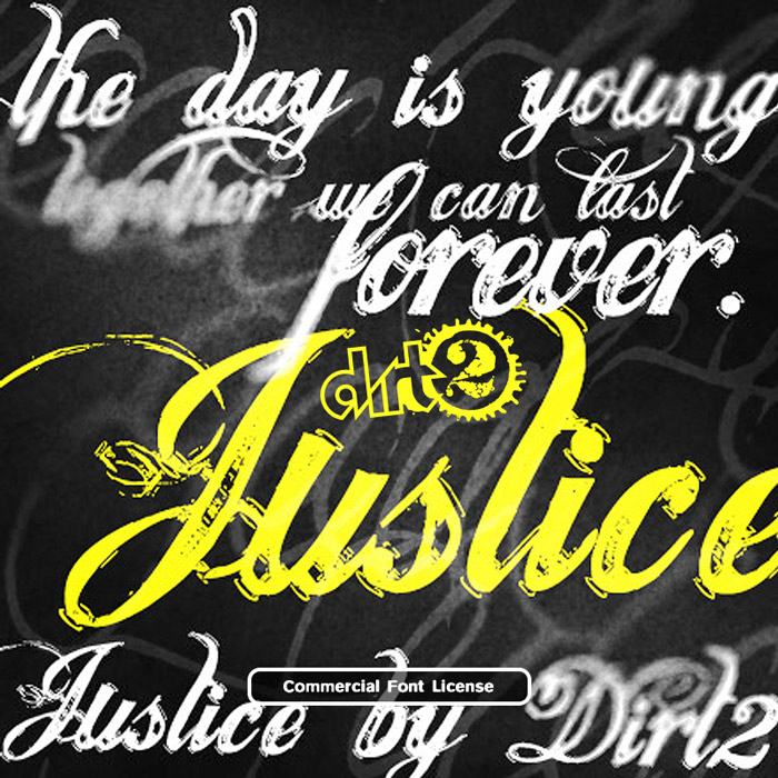 Justice font and commercial license from SickCapital.com