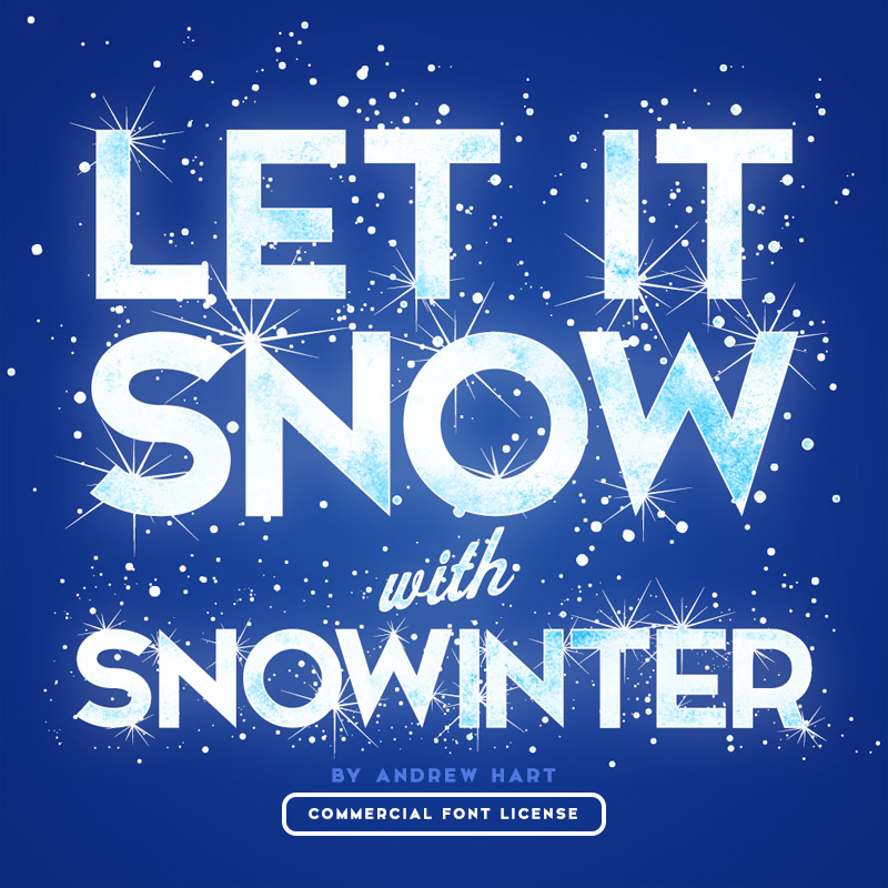 Snowinter font and commercial license from SickCapital.com
