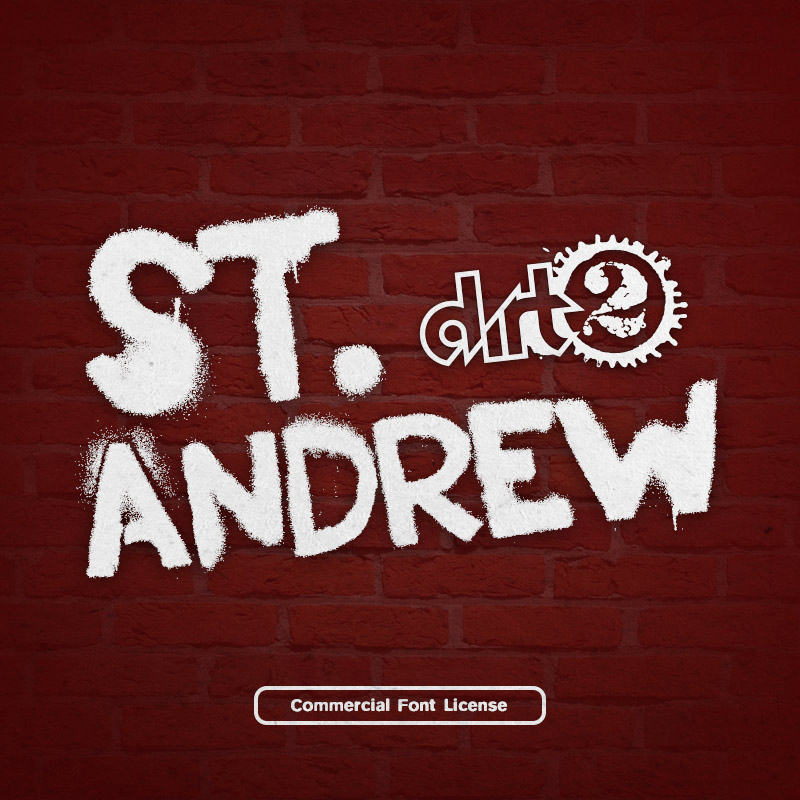 St. Andrew Graffiti Font and Commercial License from SickCapital.com
