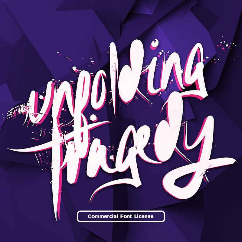 Unfolding Tragedy Font and Commercial License from SickCapital.com
