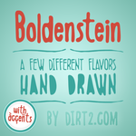 Boldenstein Font and Commercial License